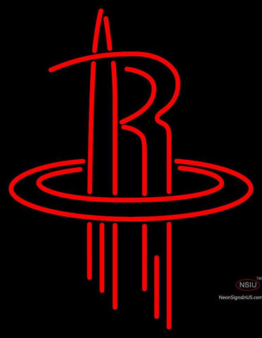 Houston Rockets Alternate   Pres Logo NBA Neon Sign