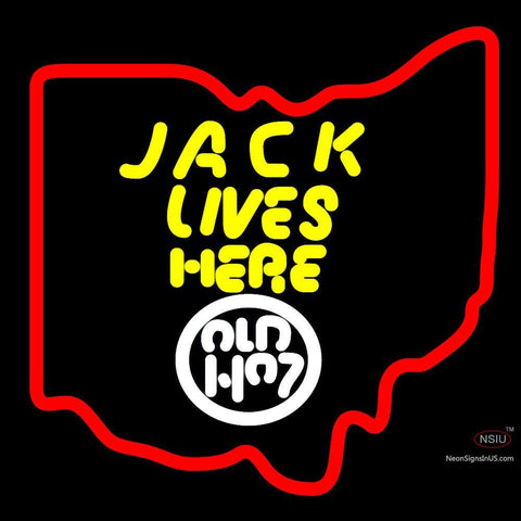 Jack Daniels Jack Lives Here Ohio Neon Sign x