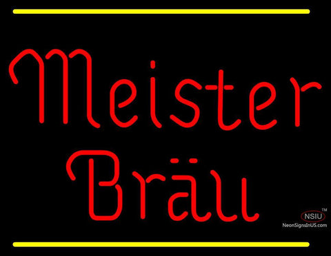 Meister Brau Logo Neon Beer Sign