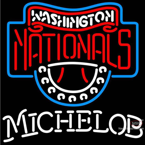 Michelob Washington Nationals MLB Neon Sign  7