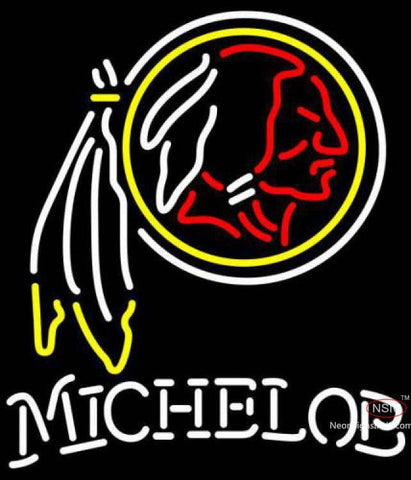 Michelob Washington Redskins NFL Neon Sign