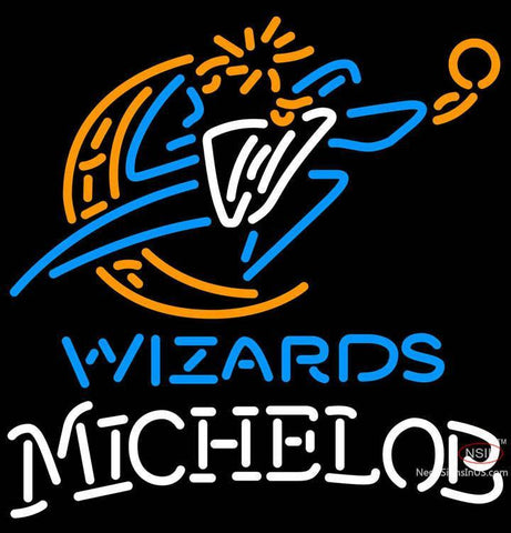 Michelob Washington Wizards NBA Neon Sign