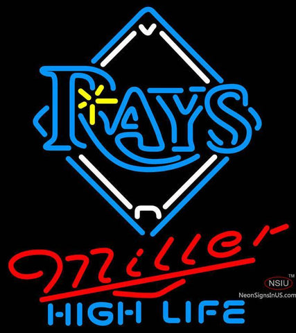 Miller High Life Tampa Bay Rays MLB Neon Sign