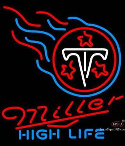 Miller High Life Tennessee Titans NFL Neon Sign