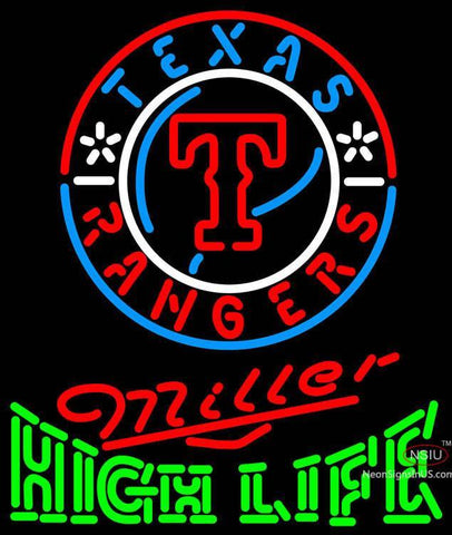 Miller High Life Texas Rangers MLB Neon Sign