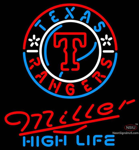 Miller High Life Texas Rangers MLB Neon Sign  7