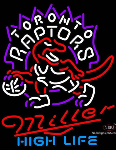 Miller High Life Toronto Raptors NBA Neon Sign