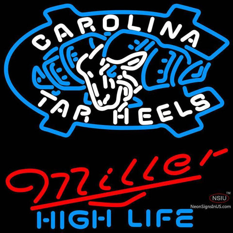 Miller High Life Unc North Carolina Tar Heels MLB Neon Sign