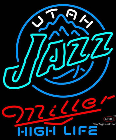 Miller High Life Utah Jazz NBA Neon Sign
