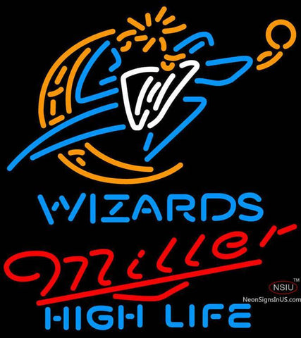 Miller High Life Washington Wizards NBA Neon Sign