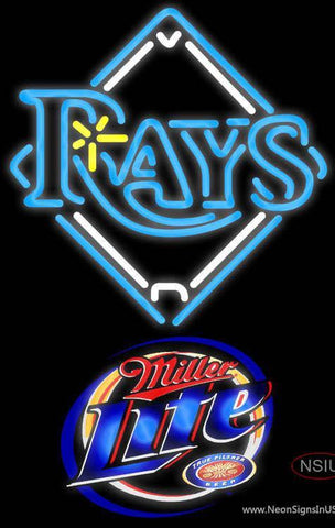 Miller Lite Tampa Bay Rays MLB Neon Sign