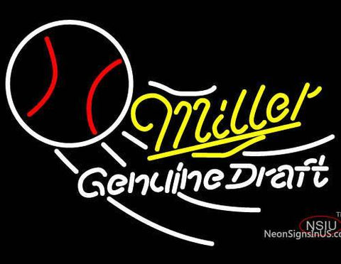 Miller Tennis Draft Neon Beer Sign
