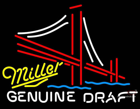 Miller Yellow Genuine Draft Golden Gate Bridge
