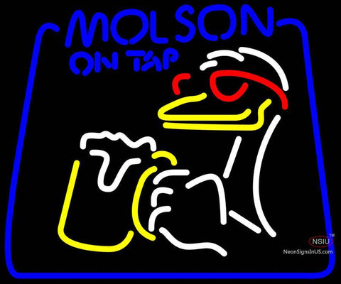 Molson On Tap Duck Neon Beer Sign