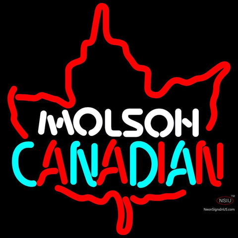Molson Leaf Neon Sign x