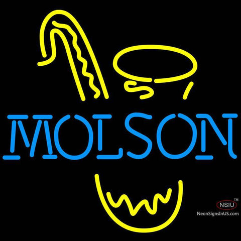 Molson Saxophone Neon Beer Sign x