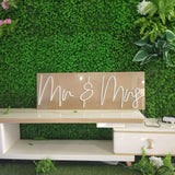 mr&mrs neon sign for wedding homemade art neon sign