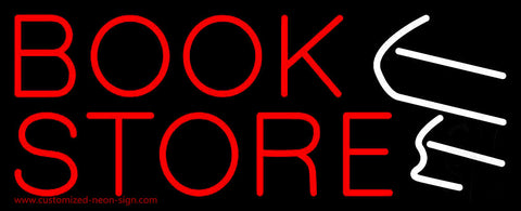 Red Book Store Logo Neon Sign