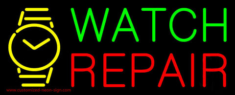 Watch Repair with Logo Neon Sign