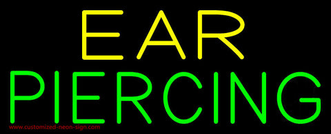 Yellow Green Ear Piercing Neon Sign