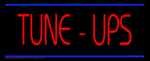 Tune-Ups Double Line Neon Sign