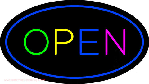 Open Multi Color Neon Sign