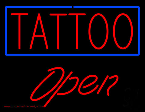 Tattoo Open Neon Sign