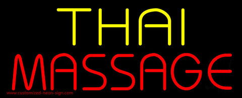 Yellow Thai Red Massage Neon Sign