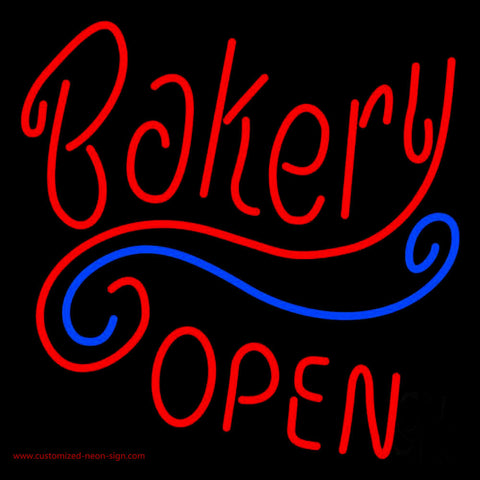Stylish Bakery Open Neon Sign