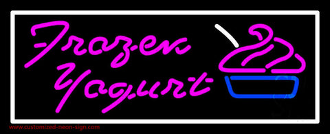 Pink Frozen Yogurt Neon Sign