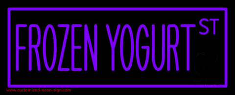 Purple Frozen Yogurt Neon Sign