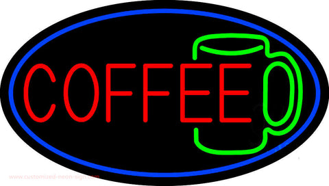 Red Coffee Mug Neon Sign