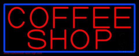 Red Coffee Shop Neon Sign