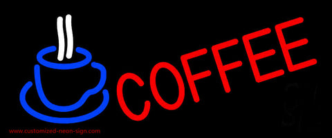 Red Coffee With Cup Neon Sign