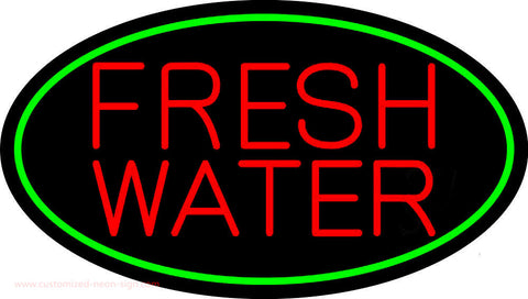 Red Fresh Water Neon Sign