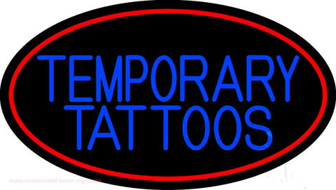 Temporary Tattoos Neon Sign