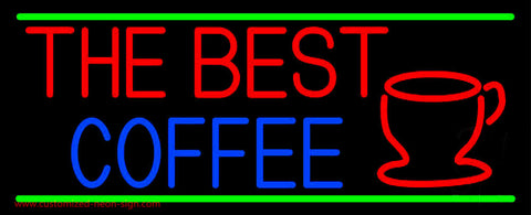 The Best Coffee Neon Sign