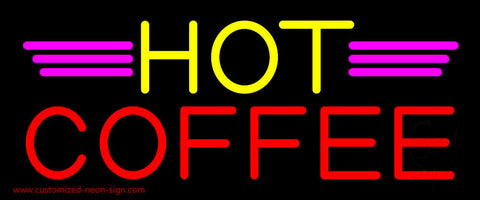 Yellow Hot Red Coffee Neon Sign