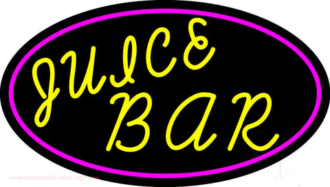 Yellow Juice Bar Neon Sign