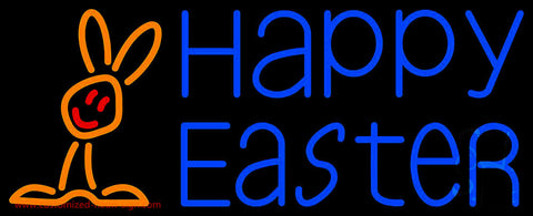 Happy Easter With Egg 1 Neon Sign
