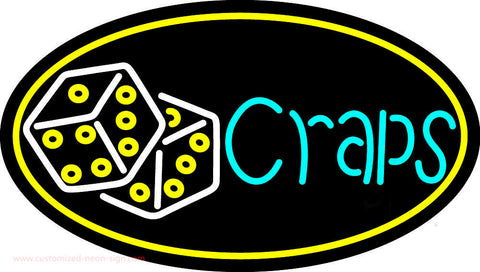 Double Stroke Craps With Dise 4 Neon Sign