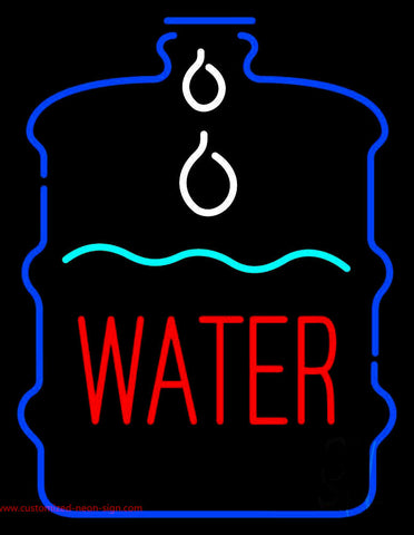Red Water In Bottle Neon Sign