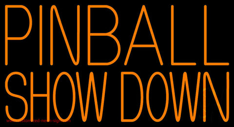 Pinball Showdown Neon Sign
