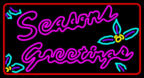 Seasons Greetings With Holy 1 Neon Sign