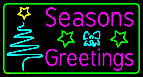 Seasons Greetings With Christmas Tree 2 Neon Sign