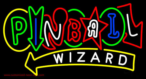 Stylish Pinball Wizard Neon Sign