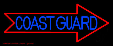 Red Coast Guard Neon Sign
