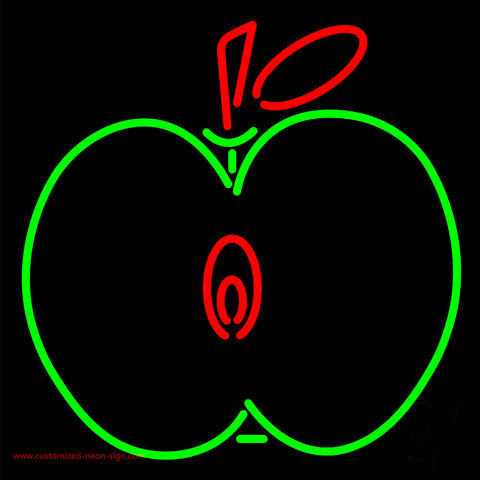 Half Apple Neon Sign