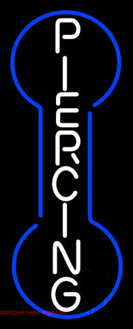 Vertical Piercing Neon Sign