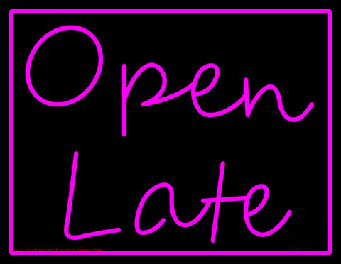 Open Late Neon Sign